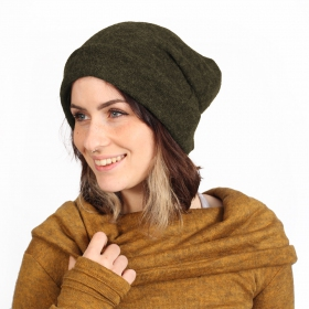 """Sükk\"" big beanie, Khaki green"