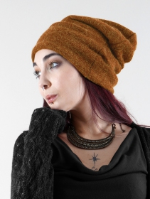 """Sükk\"" Gender neutral dreadlocks big beanie, Rusty"