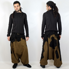 """Sumerian\"" Sarouel, Khaki and Black"