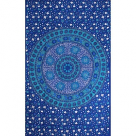 "\""Sun Moon Mandala\\\"" hanging, Blue"