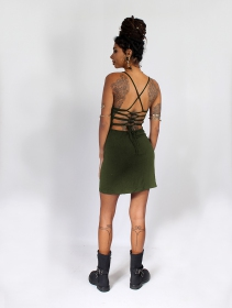 "\""Sunee\"" dress, Khaki green"