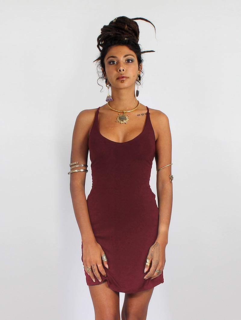 "\""Sunee\"" dress, Wine"