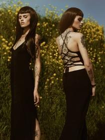 "\""Sunee\"" long dress, Black"