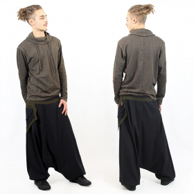 """Sunita\"" harem pants, Black and khaki"