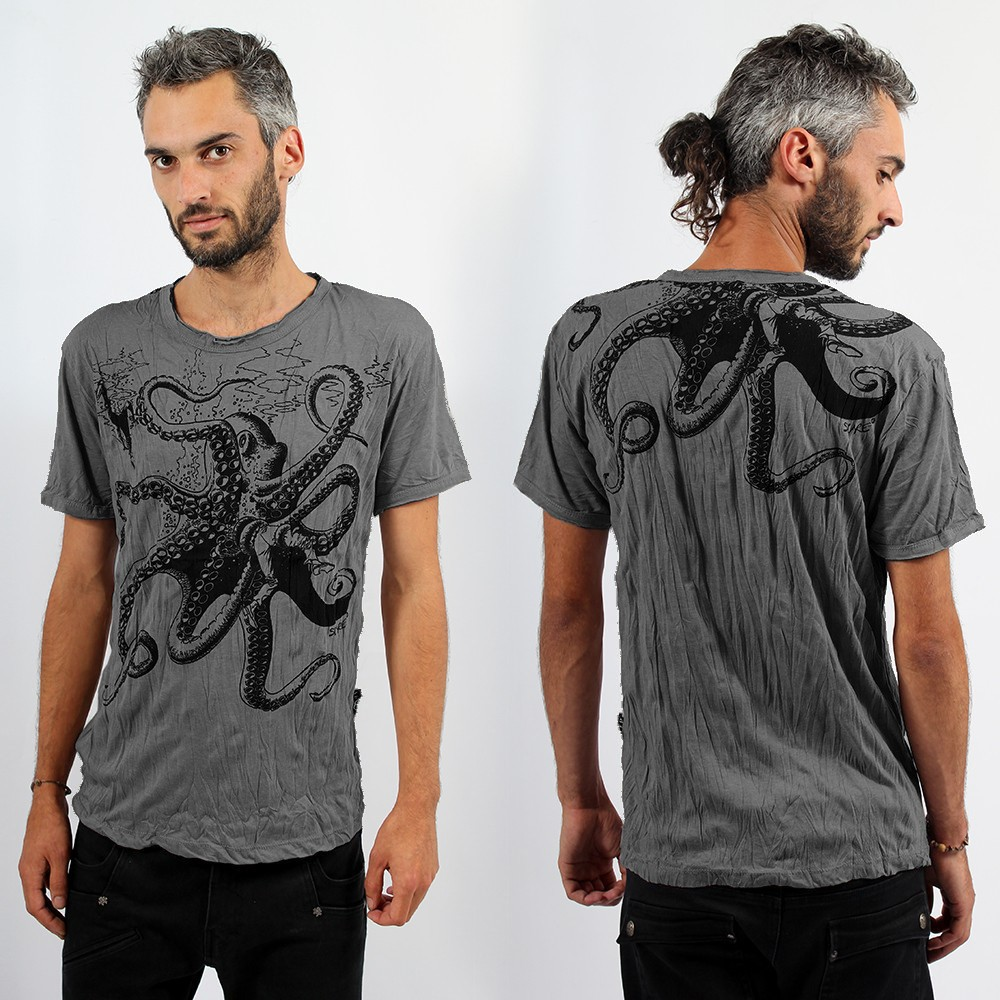 "Sure \""Octopus\\\"" T-shirt, Dark grey"