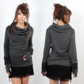 """Sweater top Witch \""""Chayan\"""", Grey"""