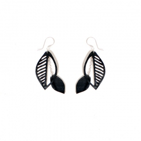 """Sweet Cherry\"" inner tube earrings"