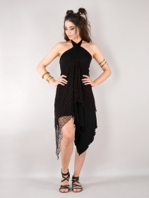 ""\""""Syrada"""" 2in1 Skirt/Tunic, Black with brown lace""211|280|?|en|2|b8fd3423ff59bf8bddaa46f274c4ad0b|False|UNLIKELY|0.2926636040210724