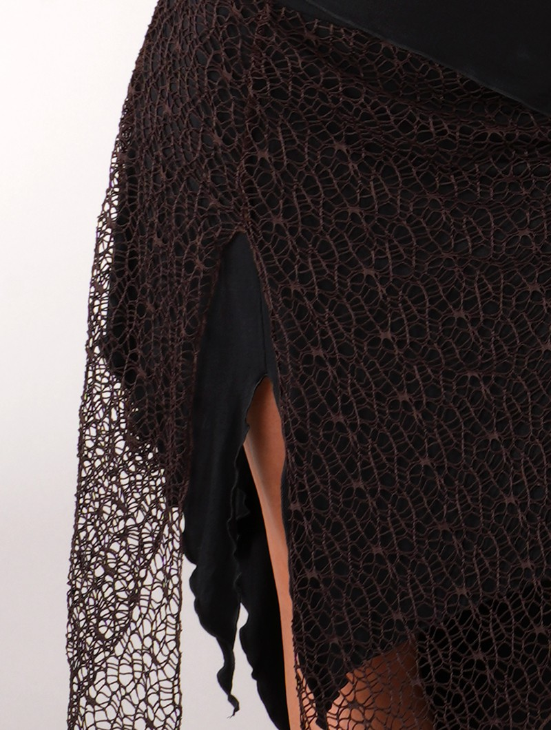 ""\""""Syrada"""" 2in1 Skirt/Tunic, Black with brown lace""800|1060|?|en|2|41422241271e987afbd890a6da24b305|False|UNLIKELY|0.3198299705982208