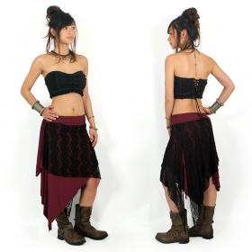 "\""Syrada\"" 2in1 Skirt/Tunic, Dark wine Black lace"