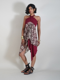 """Syrada\"" 2in1 Skirt/Tunic, Maroon"