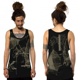 """T-Rex\"" tank top, Black"