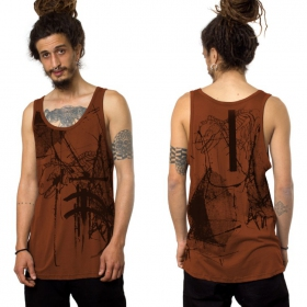 """T-Rex\"" tank top, Orangish"