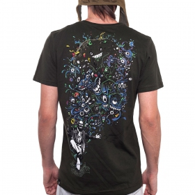 "T-Shirt \\\""Albert Hoffman\\\"", Dark brown"