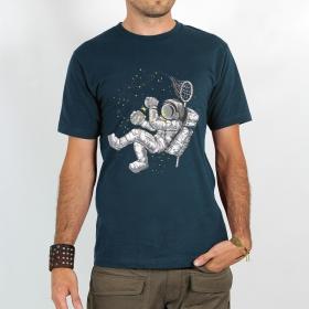"T-shirt \""astronaute Étoile luciole\"", dark grey blue"