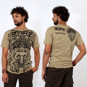 "T-shirt \""bali dragon\\\"", light brown"