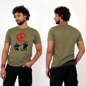 "T-shirt \""banksy army peace\"", army"
