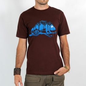 "T-shirt ""cameleon\"", Dark Brown"