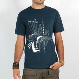 """T-shirt \""""city cyclops\"""", dark blue"""
