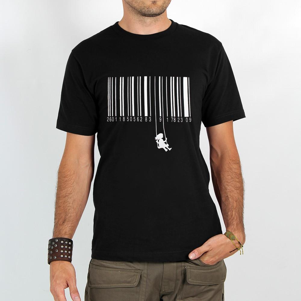 "T-shirt \""code barre balancoire\"""