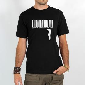 "T-shirt \""code barre suicide\"", black"