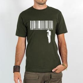 """T-shirt \""""code barre suicide\"""", khaki"""
