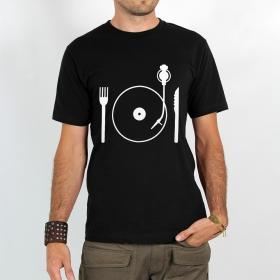 """T-shirt \""""eat vinyl\"""""""