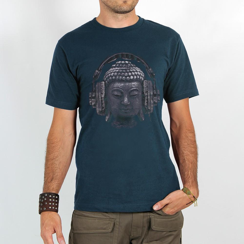 """T-shirt \""""headphone bouddha\"""""""