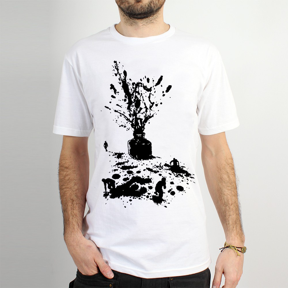 "T-shirt ""ink\"", white"