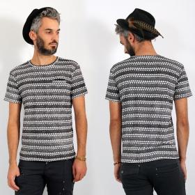 """T-shirt \\\""""Khiew\\\"""", Blanc et noir"""