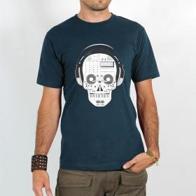 """T-shirt \""""liveset skull\"""", darkblue"""
