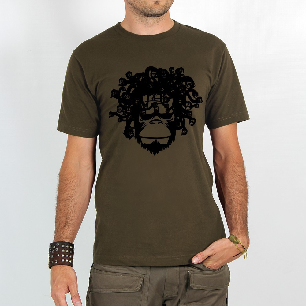 "T-shirt ""medusa monkey\"""