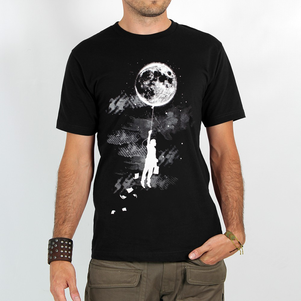 "T-shirt ""moon balloon\"""