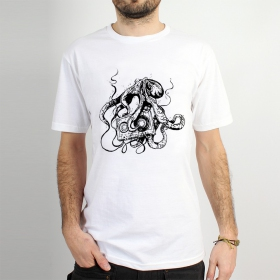 "T-shirt ""octopus k7\"", white"