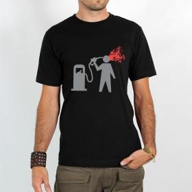 "T-shirt \""petrol suicide\"""