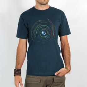 "T-shirt \""planet record\"", Dark blue"