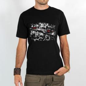 "T-shirt \""platines\"", black"
