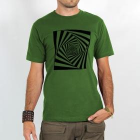 """T-shirt \""""psyche spiral\"""", green"""