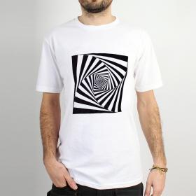 """T-shirt \""""psyche spiral\"""", white"""