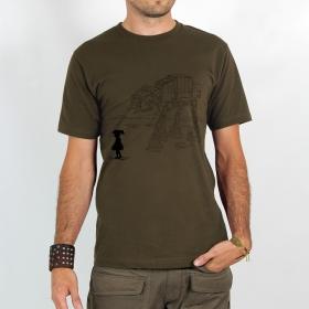"""T-shirt \""""robot pet\"""", light brown"""