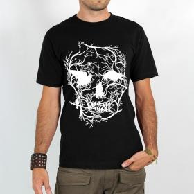 """T-shirt \""""skull\"""", noir"""