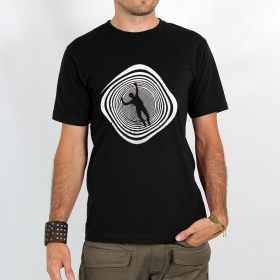 "T-shirt ""spirale infernale\"", black"