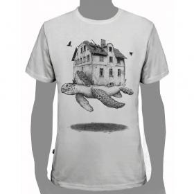 "T-shirt \""turtle\"", white"