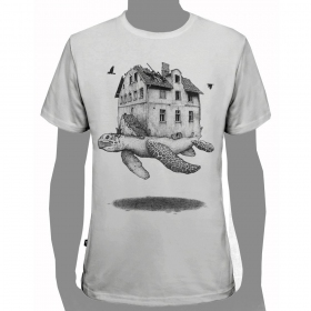 "T-shirt ""turtle\"", white"