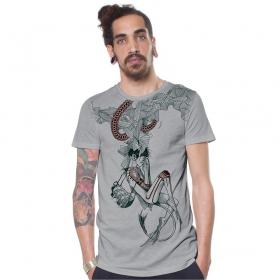 "T-shirt \\\""Velocity\\\"", Light grey"