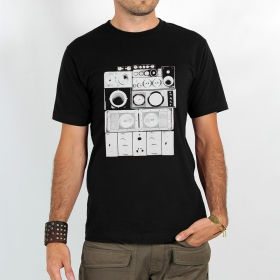 "T-shirt ""Wall of sound\"", Black"