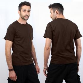 """T-shirt \""""woonwai\"""", chocolate"""