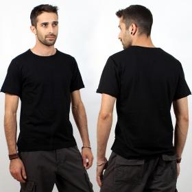 "T-shirt \""woonwai\"", plain Black"