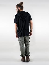 """T-shirt I-Ewer \""""Kusumo\"""", Black"""