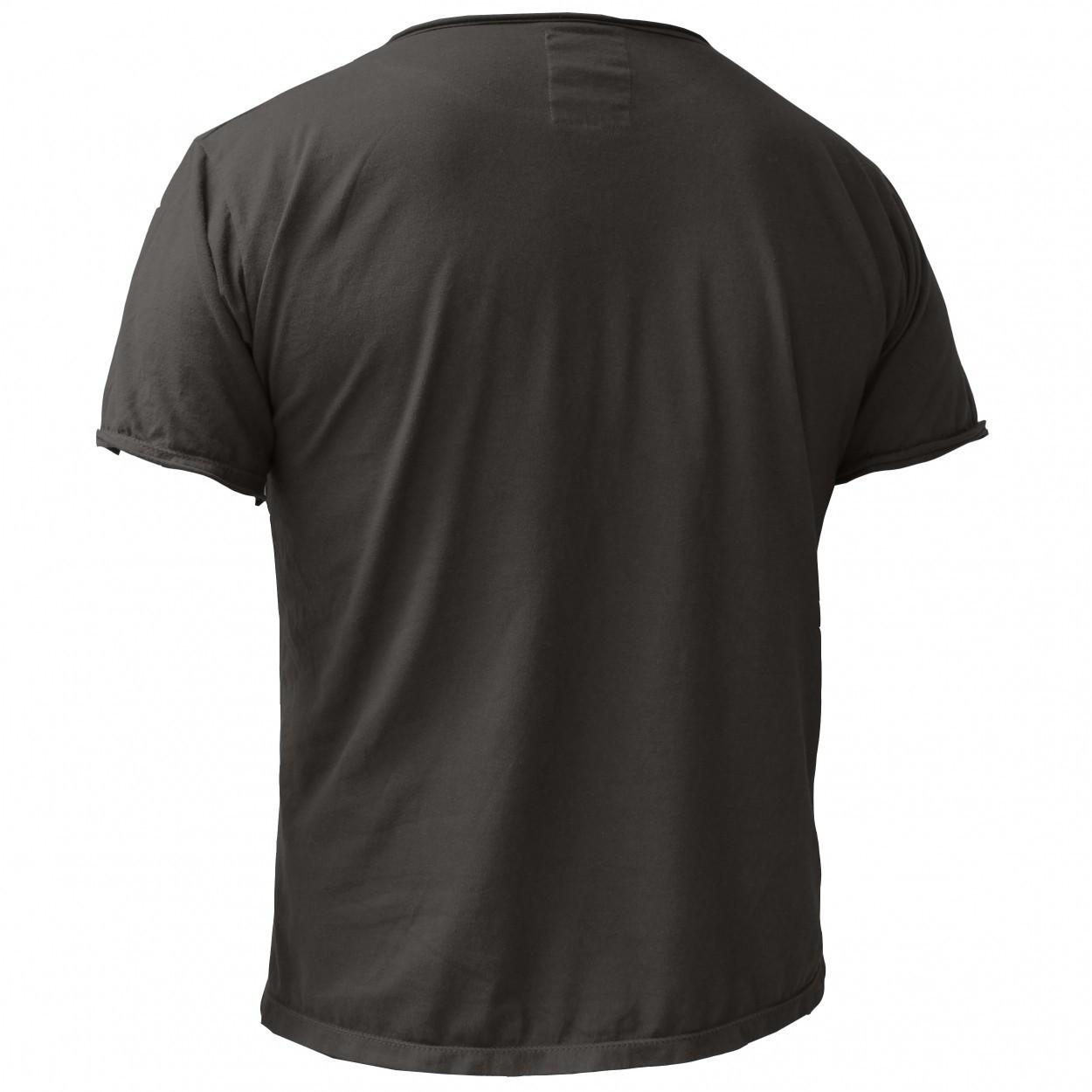 """T-shirt plain \\\""""Woonwai\\\"""", Charcoal grey"""